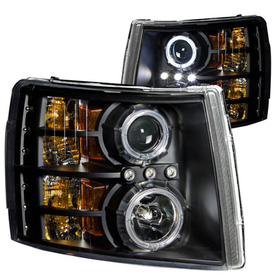 Anzo Projector Headlights Chevy Silverado 1500 (07-13) 2500HD/3500HD (07-14) [CCFL Halo] Black or Chrome