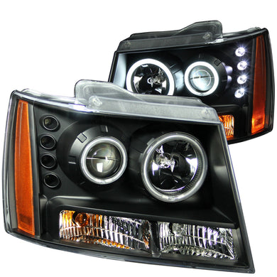 Anzo Projector Headlights Chevy Tahoe / Suburban 1500/2500 / Avalanche [CCFL Halo] (07-13) Black or Chrome