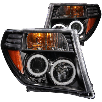 Anzo Projector Headlights Nissan Frontier (05-08) Pathfinder (05-07) [CCFL Halo] Black or Chrome