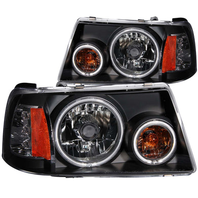 Anzo Crystal Headlights Ford Ranger [CCFL Halo] (2001-2011) Chrome or Black