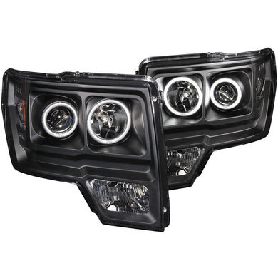 Anzo Projector Headlights Ford F150 (09-14) SVT Raptor (2010) [CCFL Halo] Black or Chrome