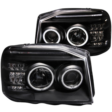Anzo Projector Headlights Nissan Frontier [CCFL Halo] (2001-2004) Black