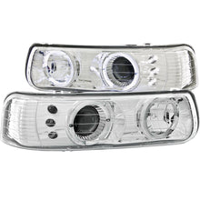 Load image into Gallery viewer, Anzo Projector Headlights Chevy Silverado 1500/2500 (99-02) 3500 (01-02) [LED Halo] Black or Chrome