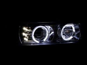 Anzo Projector Headlights Chevy Silverado 1500/2500 (99-02) 3500 (01-02) [LED Halo] Black or Chrome