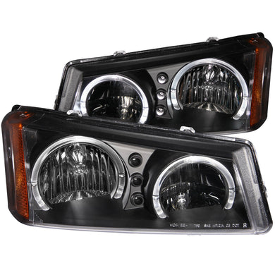 Anzo Crystal Headlights Chevy Silverado / Avalanche [LED Halo] (03-06) Chrome or Black