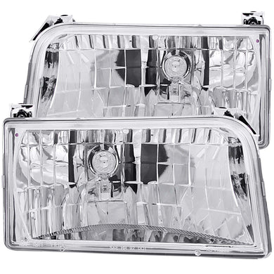 Anzo Crystal Headlights Ford Bronco/F150 (92-96) F250/F350 (92-98) Chrome
