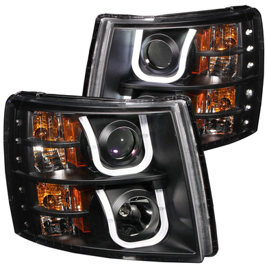 Anzo Projector Headlights Chevy Silverado 1500 (07-13) 2500HD/3500HD (07-14) [U-Bar Halo] Black or Chrome