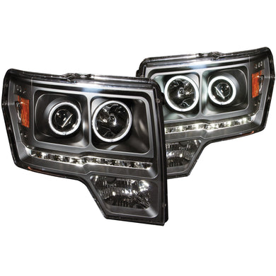 Anzo Projector Headlights Ford F150 (09-14) SVT Raptor (2010) [G2 CCFL Halo] Black or Chrome