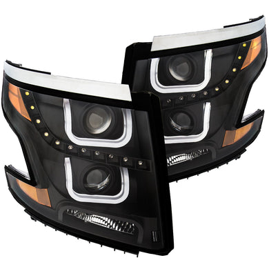 Anzo Projector Headlights Chevy Tahoe/Suburban [LED Halo] (15-19) Black or Chrome