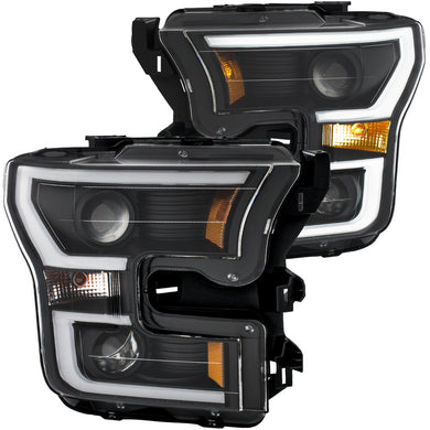 Anzo Projector Headlights Ford F150 [Plank Style Halo] (2015-2017) Black or Chrome