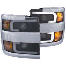 Load image into Gallery viewer, Anzo Projector Headlights Chevy Silverado 2500 HD / 3500 HD [Plank Style] (15-19) Black or Chrome