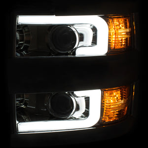 Anzo Projector Headlights Chevy Silverado 2500 HD / 3500 HD [Plank Style] (15-19) Black or Chrome