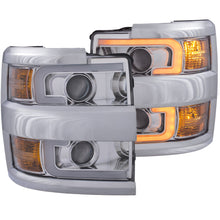 Load image into Gallery viewer, Anzo Projector Headlights Chevy Silverado 2500HD/3500HD [Plank Style] (15-19) Black or Chrome