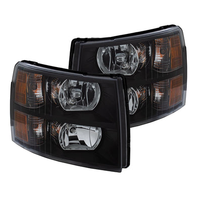 Anzo Crystal Headlights Chevy Silverado 1500 (2007-2013) Black Amber