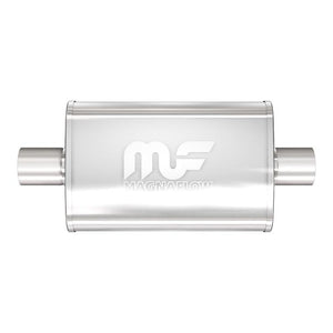 "Magnaflow Muffler (2.25"" - 4"" x 9"" Oval - 18"" Body - 24"" Overall - Center / Center) 11245"