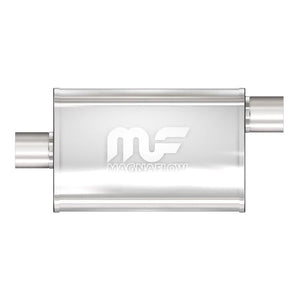 "Magnaflow Muffler (2.5"" - 4"" x 9"" Oval - 18"" Body - 24"" Overall - Center / Offset) 11256"
