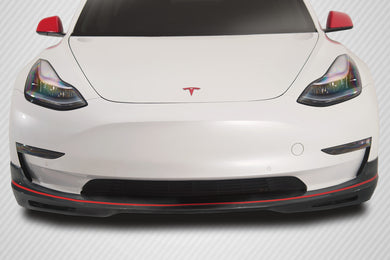 Carbon Creations Front Lip Tesla Model 3 [GT Concept] (2018-2020) 2x2 Carbon Fiber