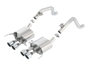 Borla Axleback Exhaust Corvette C7 Stingray w/o AFM [ATAK/S-Type - w/o NPP Valve] (14-19) Silver or Ceramic Black