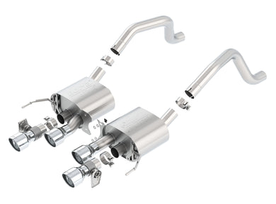 Borla Axleback Exhaust Corvette C7 Z06/ Grand Sport [ATAK - w/ NPP Valves] (15-19) Dual Round Rolled Angle-Cut Tips