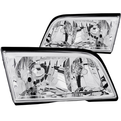 Anzo Crystal Headlights Mercedes C-Class W202 Sedan (1994-2000) Chrome