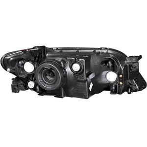 Anzo Crystal Headlights Mazda Protege (2001-2003) [Black Housing] 121107