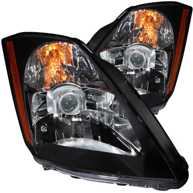 Anzo Crystal Headlights Nissan 350Z [Halogen Models] (2003-2005) Black