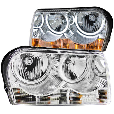 Anzo Crystal Headlights Chrysler 300 [CCFL Halo] (2005-2010) Chrome or Black
