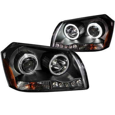 Anzo Projector Headlights Dodge Magnum [CCFL Halo] (2005-2007) Black or Chrome
