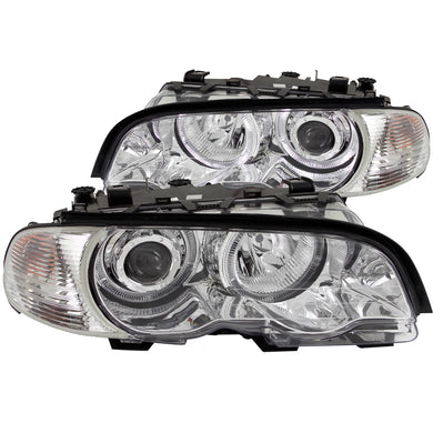 Anzo Projector Headlights BMW E46 M3 Coupe (01-04) Chrome w/ Corner Lights