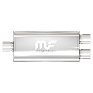 "Magnaflow Muffler (3"" - 5"" x 8"" Oval- 18"" Body - 24"" Overall - Center / Dual) 14288"