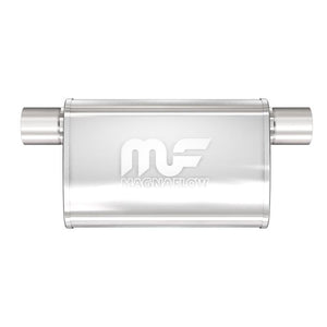"Magnaflow Muffler (2.5"" - 4"" x 9"" Oval- 11"" Body - 17"" Overall - Offset / Offset Same Side) 14376"