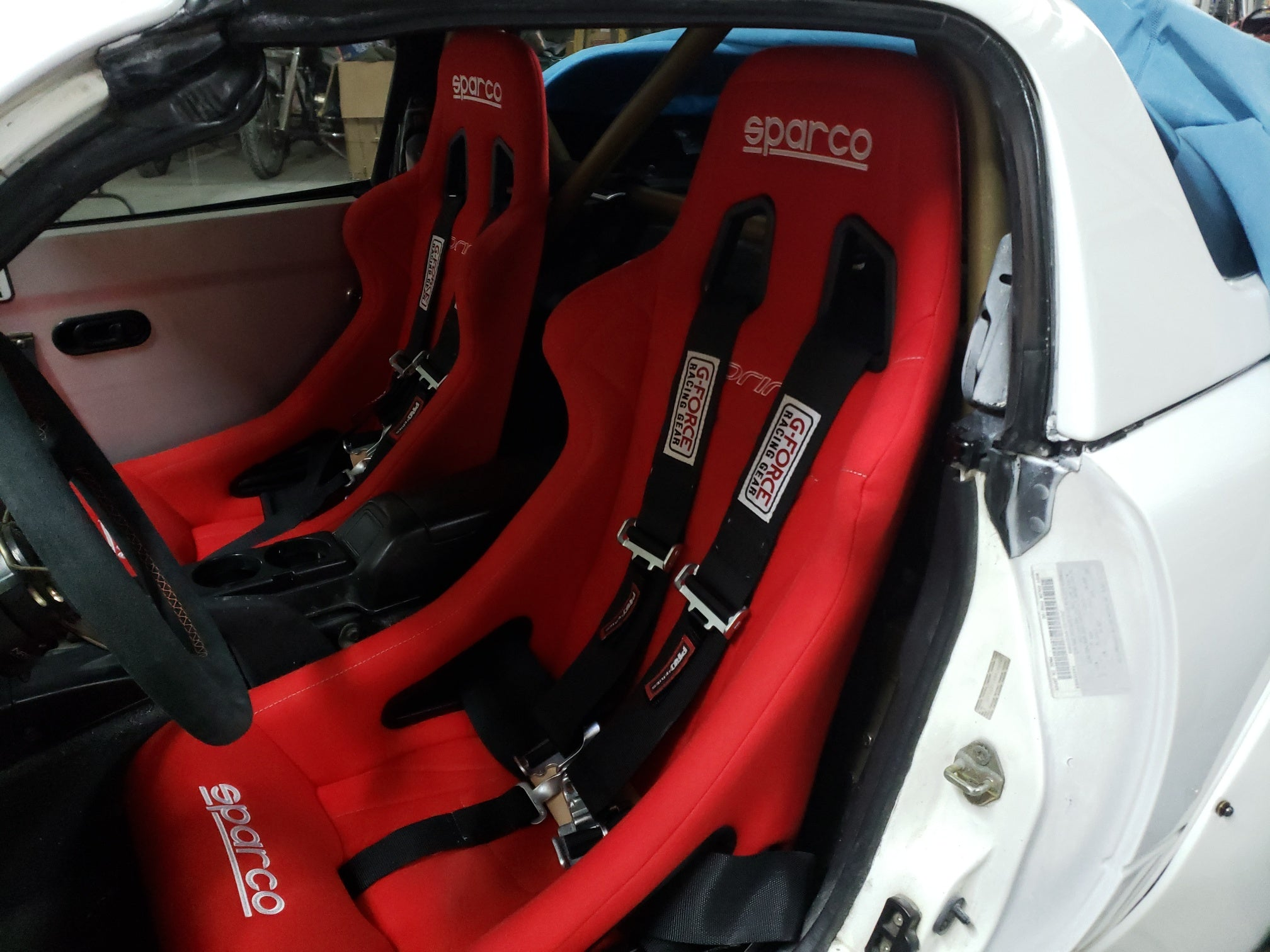 Sparco Sprint Racing Seats Black Blue Red Cloth Or Vinyl Fixed B Redline360