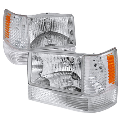 Spec-D OEM Replacement Headlights Jeep Grand Cherokee (1993-1996) Chrome / Black / Smoke