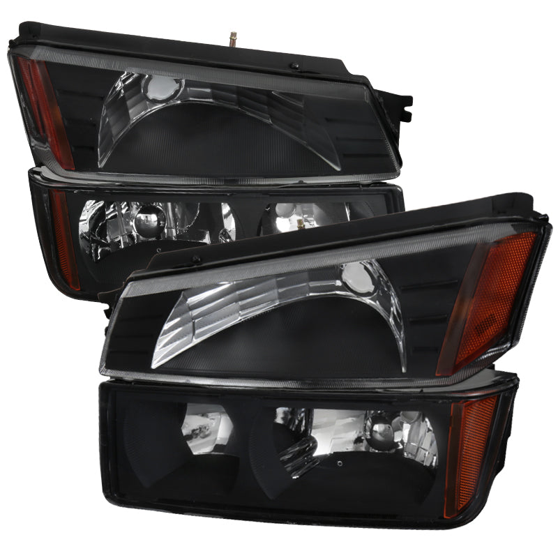 Spec-D OEM Replacement Headlights Chevy Avalanche (2002-2006) Black