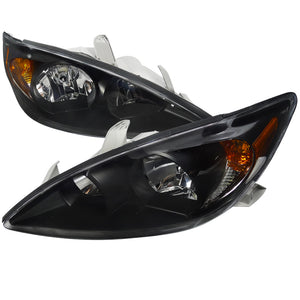 Spec-D OEM Replacement Headlights Toyota Camry (2002-2003-2004) Black / Chrome