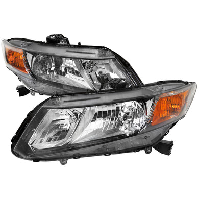 Spec-D OEM Replacement Headlights Honda Civic (12-15) Black or Chrome