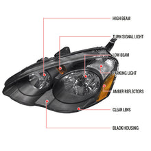 Load image into Gallery viewer, Spec-D OEM Replacement Headlights Acura RSX & Type-S (02-04) Black Housing