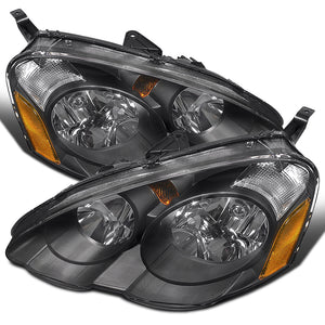 Spec-D OEM Replacement Headlights Acura RSX & Type-S (02-04) Black Housing