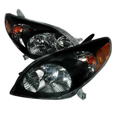 Spec-D OEM Replacement Headlights Toyota Matrix (03-08) Black JDM Style