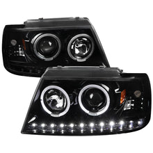 Load image into Gallery viewer, Spec-D Projector Headlights Ford Explorer [Dual Halo LED] (2002-2005) Black / Smoke / Chrome