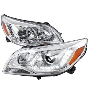 Spec-D OEM Replacement Headlights Chevy Malibu (2013-2014-2015) Black / Chrome