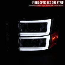 Load image into Gallery viewer, Spec-D Projector Headlights GMC Sierra [C Light Bar] (2007-2013) Black Housing