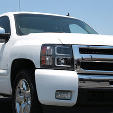 Load image into Gallery viewer, Spec-D Projector Headlights Chevy Silverado (07-13) LED C-Bar DRL - Black / Chrome