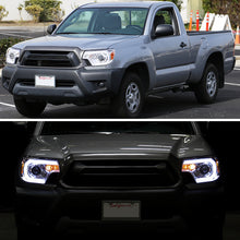Load image into Gallery viewer, Spec-D Projector Headlights Toyota Tacoma [DRL C-Bar] (2012-2015) Black or Chrome