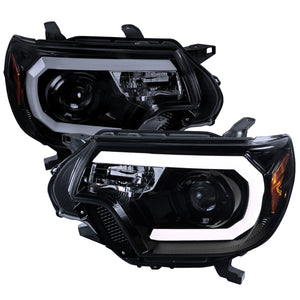 Spec-D Projector Headlights Toyota Tacoma [DRL C-Bar] (2012-2015) Black or Chrome
