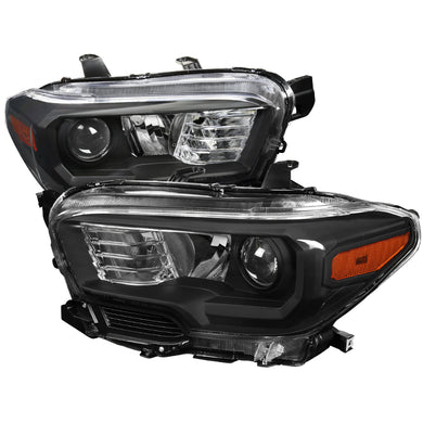Spec-D Projector Headlights Toyota Tacoma (2016-2017-2018) Black Housing
