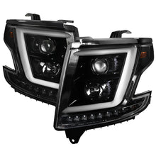 Load image into Gallery viewer, Spec-D Projector Headlights Chevy Suburban/Tahoe (2015-2020) w/ C-bar LED DRL - Black or Chrome