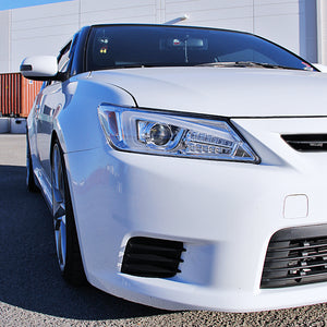 Spec-D Projector Headlights Scion tC [w/ LED Bar] (2011-2012-2013) Black / Tinted / Chrome