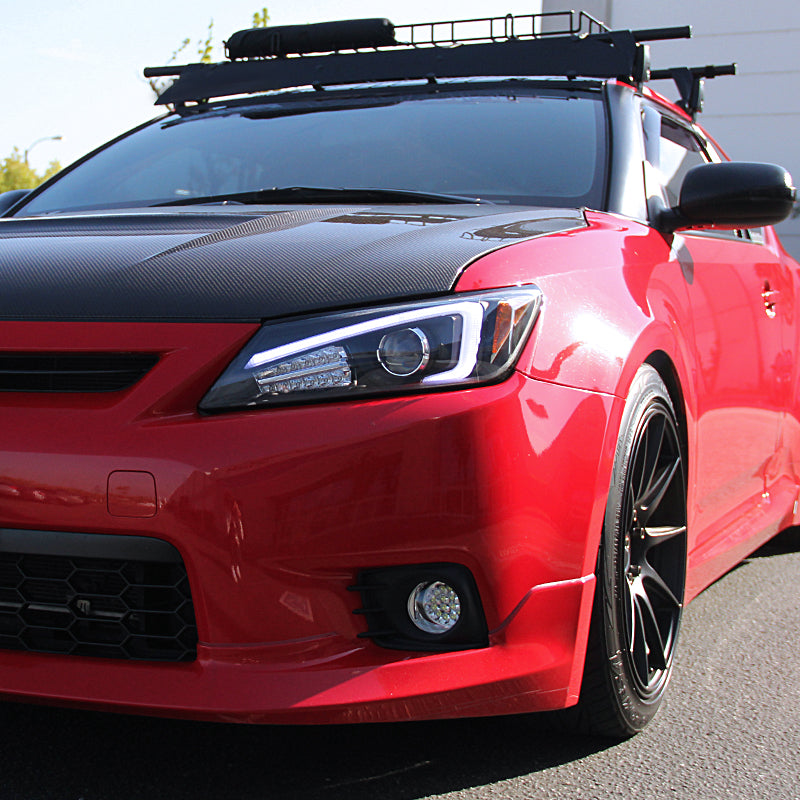 Spec-D Projector Headlights Scion tC (2011-2012-2013) w/ LED Bar - Black / Tinted / Chrome