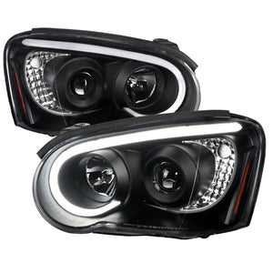 Spec-D Projector Headlights Subaru WRX/STi (2004-2005) w/ LED Bar - Black or Chrome